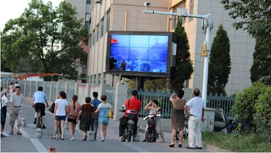 户外拼接墙广告屏案例效果图